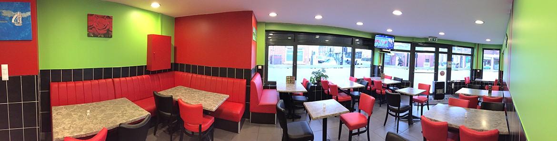 Intérieur du restaurant Unver Kebab Roubaix